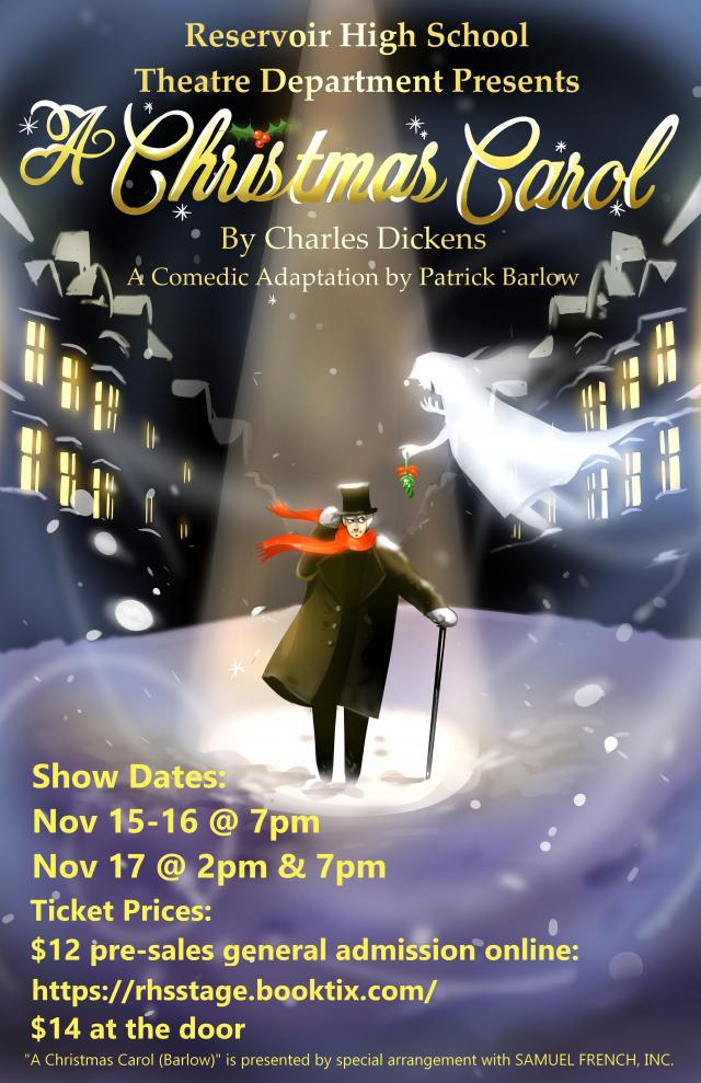 A Christmas Carol Fall Play Poster 2018