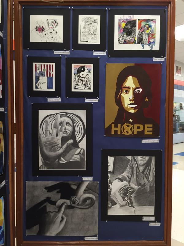 More Art 2 works. Displays are up through June 12.